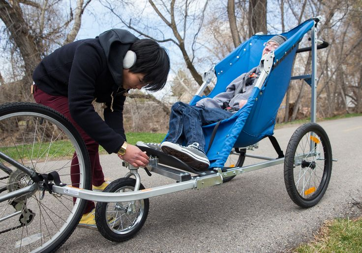 Bike trailer for adults