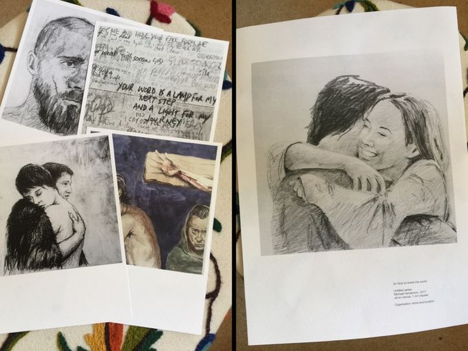 examples of postcards and poster rewards