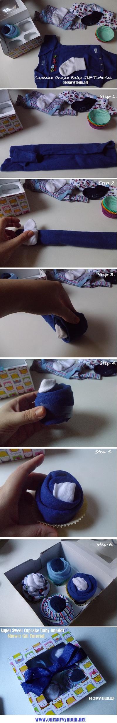 Cupcake Baby Onesie Baby Shower Gift Tutorial