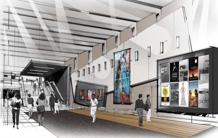 village cinema doncaster entrance foyer rendering. Black Bedroom Furniture Sets. Home Design Ideas