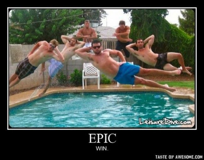 I am laughing just thinking about how many times they had to try and take this. AWESOME!: Like A Boss, Buckets Lists, Swim Pools, Awesome, Epic Win, Swim Trunks, Pools Parties, So Funny, Photo