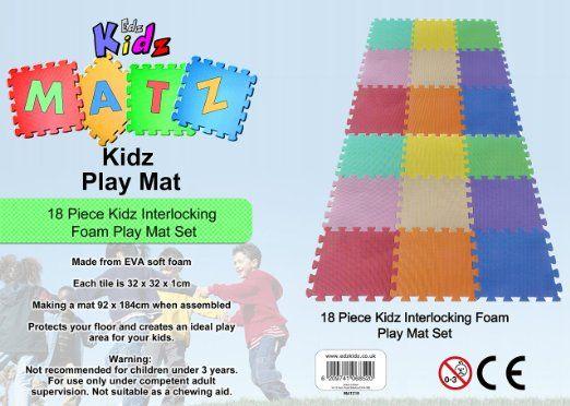 £13.45 Edz Kidz 18 PC Interlocking Foam Play Mat Set