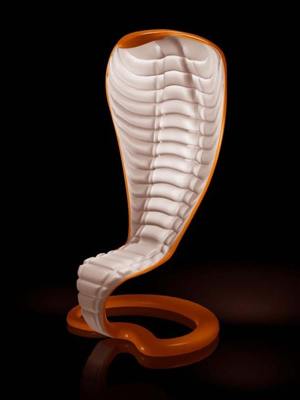 Wild Design's Exotic Chairs Concept with Cobra Shape