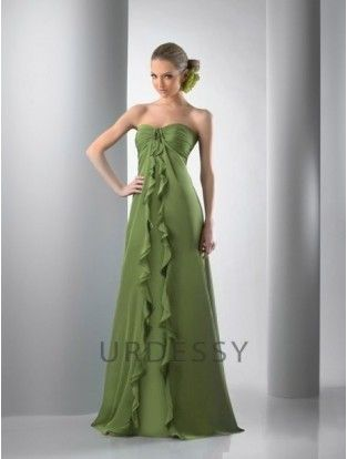 Discount A-Line Sleeveless Chiffon Clover Forest Green Bridesmaid Dresses: http://www.urdessy.co.uk/discount-a-line-sleeveless-chiffon-clover-green-bridesmaid-dresses-kaley-cuoco