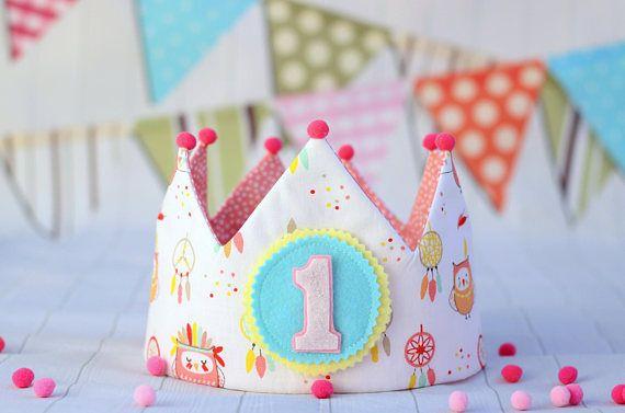 corona de cumpleaños infantil, regalo personalizado, regalo niña