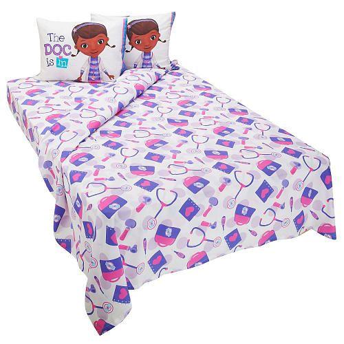 doc mcstuffins full sheet set  toddler girl room sheet