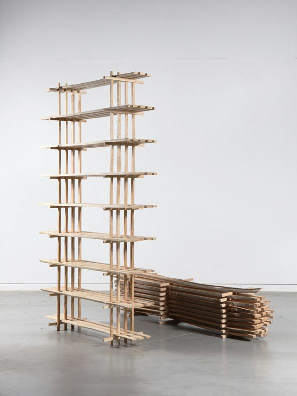 The wood processing industry works according to a fixed pattern: a tree is stripped of its branches and divided into geometric forms. Lex Pott combined these industrial, geometric forms with the orig...
