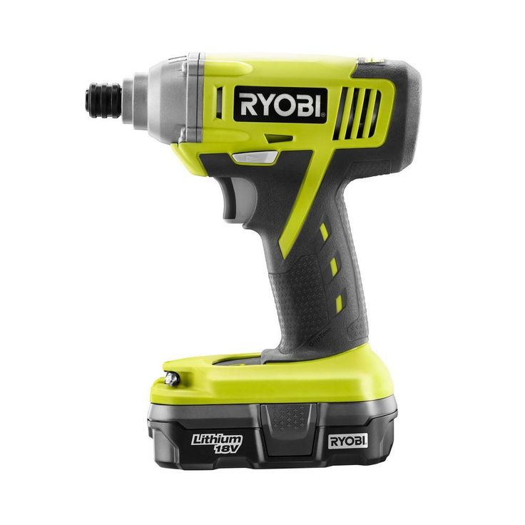 Ryobi ONE  18-Volt Lithium-Ion 1/4 in. Cordless Impact Driver Kit-P1870 - The Home Depot