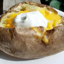 Microwave Baked Potato. Because sometimes you want one in ten minutes and not two hours.