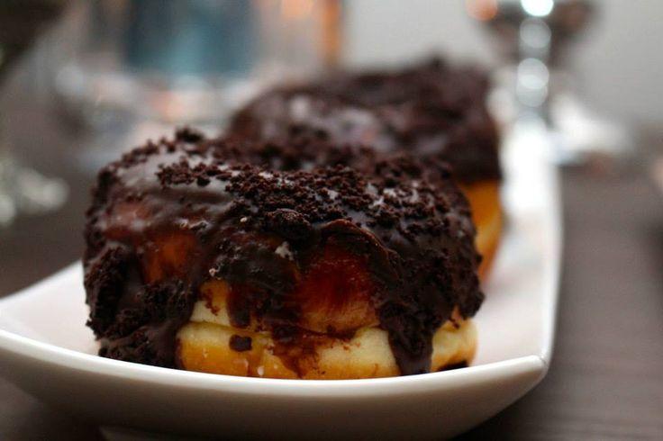 Donuts from Suzy Q Donuts, Ottawa. Masculine Birthday Dessert table.