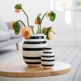 Kähler vase mellem - Sort