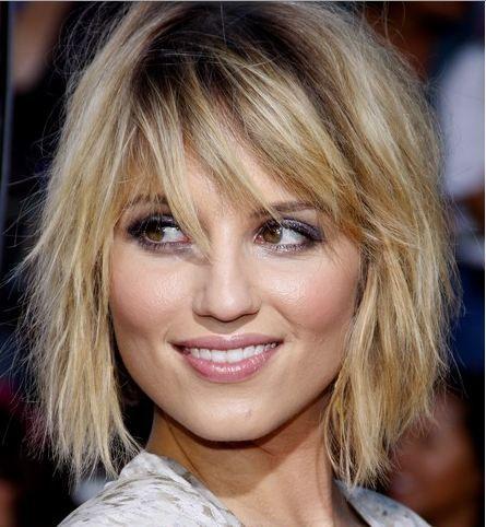 Dianna Agron sporting a super cute tousled #short #haircut