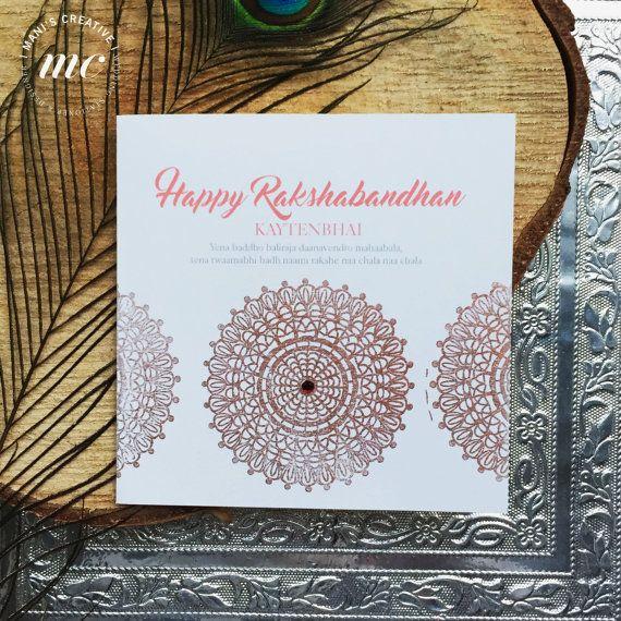 Indian Handmade Raksha bandhan/Rakhi by ManisCreativeService