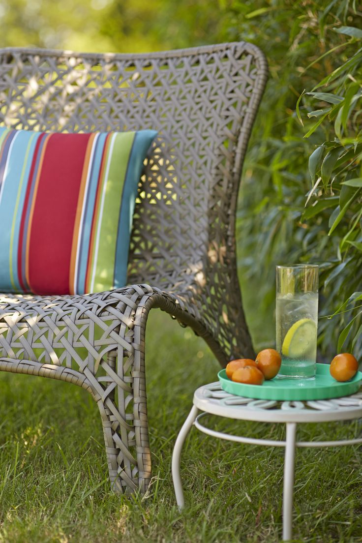 This Woven Patio Chair Is A Great Mixture Of Style And Comfort. | Patio  Paradise | Pinterest | Patios, Backyard And Porch