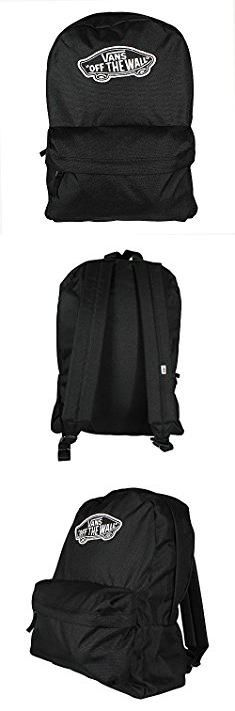 Vans Bags. VANS Realm Backpack Plain Black School Bag Vans Backpack V00NZ0BLK.  #vans #bags #vansbags