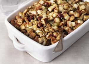Choose from a variety of stuffing and dressing recipes, including basic cornbread and bread dressings, oyster dressing, and a DIY stove-top version.: Basic Bread Stuffing