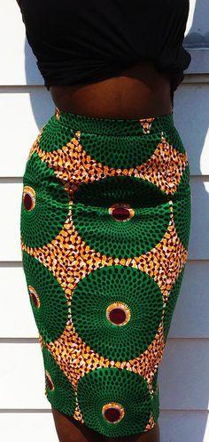 The Bena Ankara Skirt (high-waist)