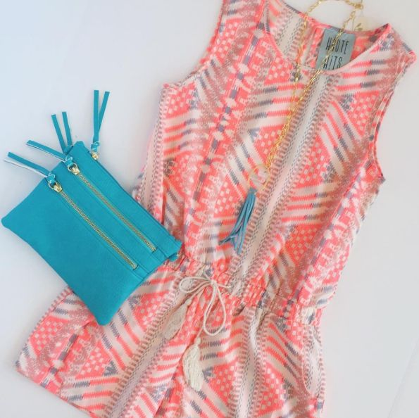Neon romper for tween girls! Size 7-14. Great spring style!