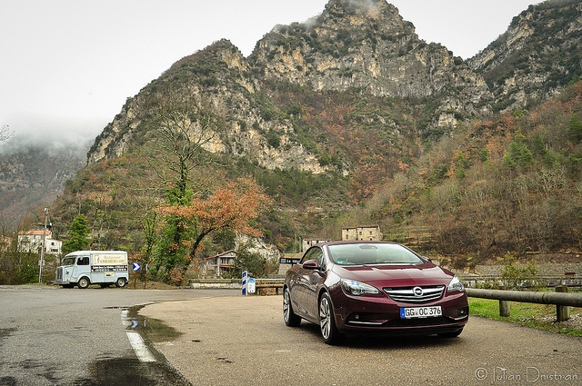 Opel Cascada in the French mountains by Iulian.Dnistran.ro, via Flickr