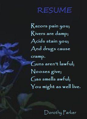 Resume .....Dorothy Parker  Resume Dorothy Parker