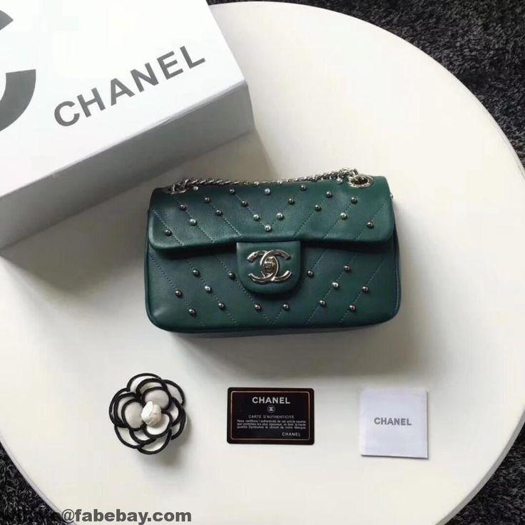 cc68852d1f35 Chanel Lambskin Stud Wars Mini Flap Bag A91954 2017