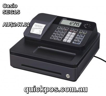 Buy Casio SE-G1S ecr Black is the entry level casio cash register comes with great new features then previous cash register At QuickPOS.  #QuickPOS #CasioCashRegister #http://www.quickpos.com.au/cash-registers/casio-cash-registers-casio-se-g1s-ecr-black-seg1s.html