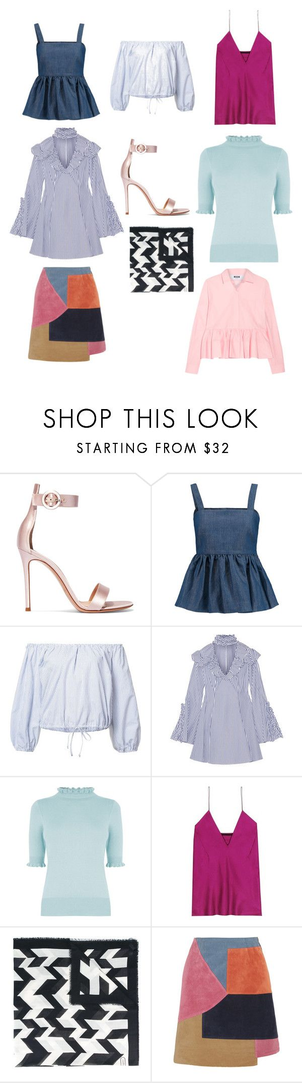 """""""trendings 20? i think?"""" by arcvs ❤ liked on Polyvore featuring Gianvito Rossi, CO, Sea, New York, Caroline Constas, Oasis, Haider Ackermann, Salvatore Ferragamo, M.i.h Jeans and MSGM"""