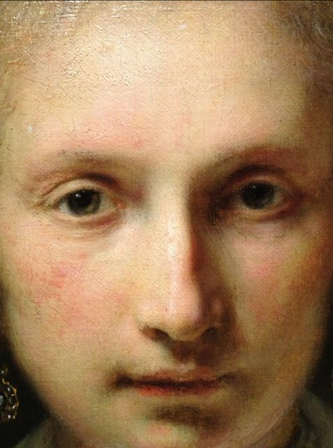 Rembrandt, a simgle woman's face can move you this much and it's a Rembrandt)