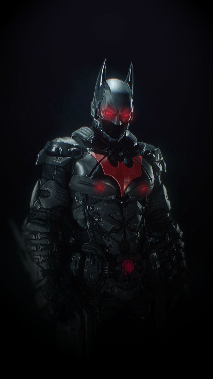Batman Arkham Knight Suit : Batman Beyond Skin. A wallpaper made by me for smartphones in highest quality as possible i could make.