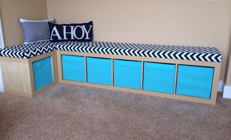 DIY Playroom Project - Storage Bench | DIY | Pinterest