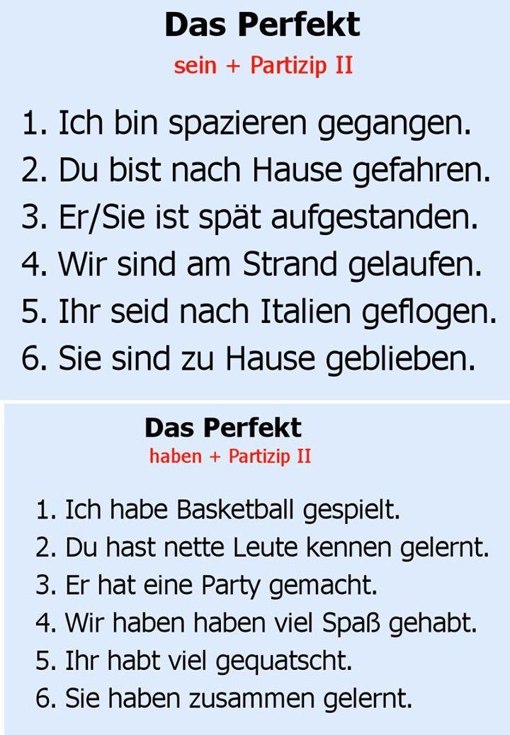Das Perfekt - Deutsch