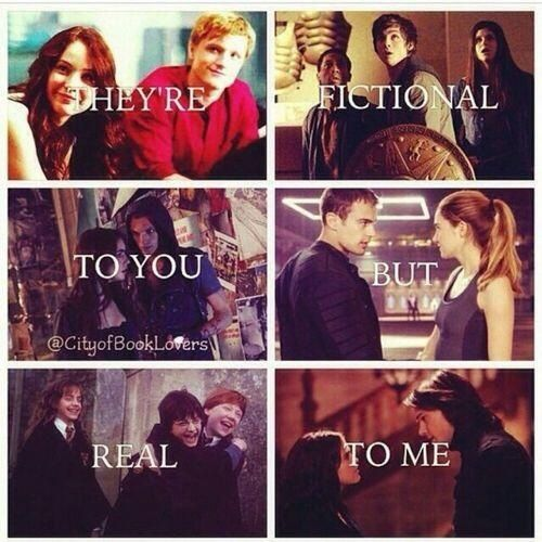 The Hunger Games, Percy Jackson and the Olympians, The Mortal Instruments, Divergent, Harry Potter, Vampire Academy