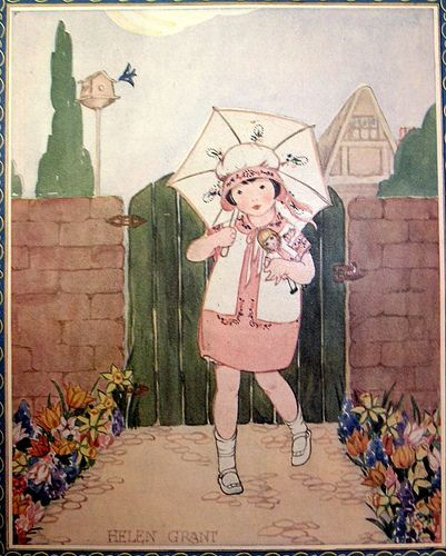 "Illustration by Helen Grant for ""Needlecraft"" magazine cover - April 1926"