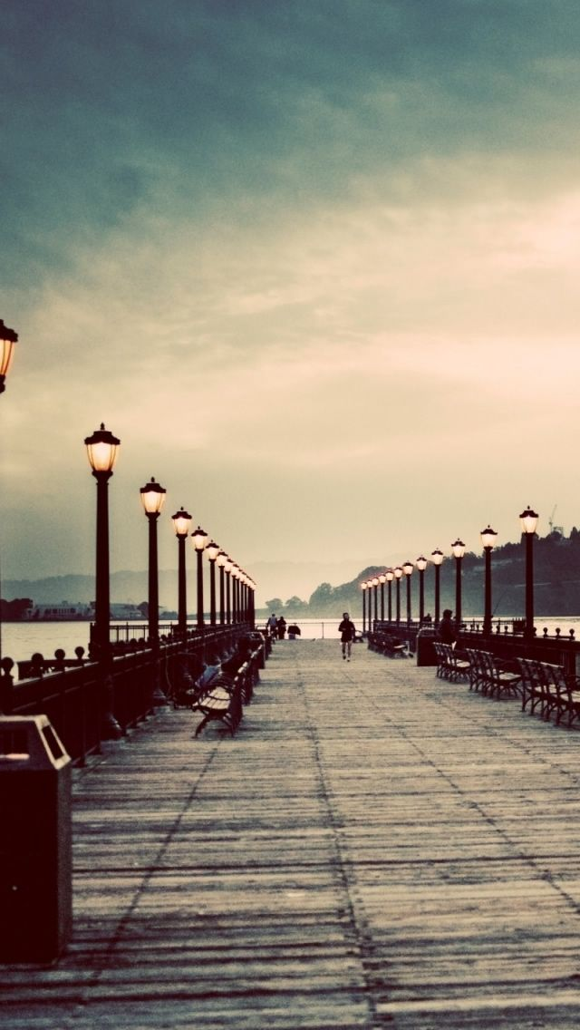 Promenade Vintage Effect Photography Iphone Wallpapers Mobile9