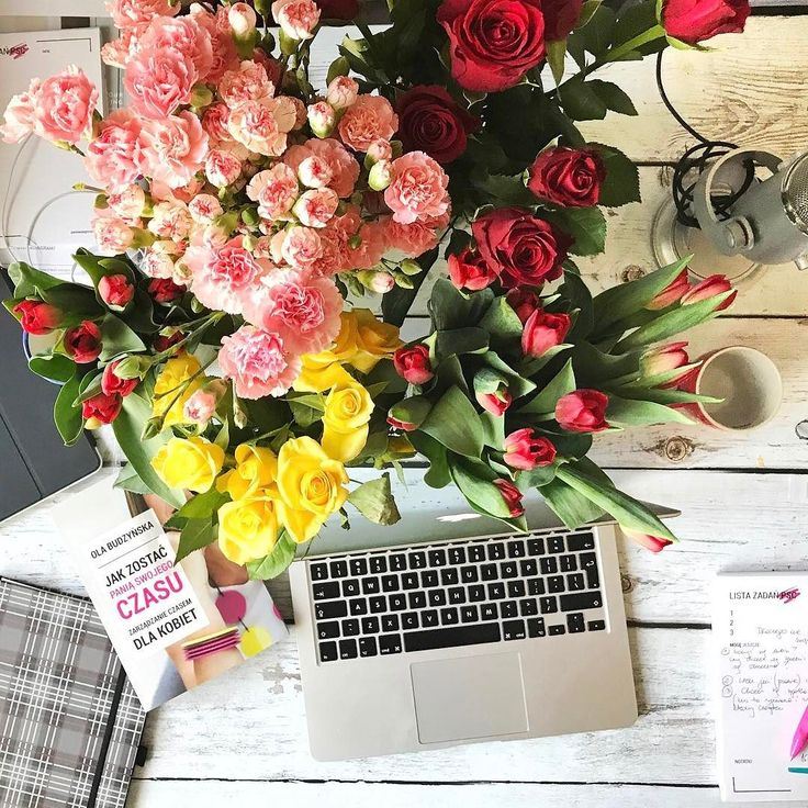 Ktoś tu chyba poszalał z kwiatami  #psc #paniswojegoczasu #kwiaty #flowers #goodvibesonly #perfectview #interior #desk #biurko #office #biuro #praca #lovelife #fun #happy #happiness #slowlife #instagirl #instaflower #girlstuff #homesweethome #workspace #myhome