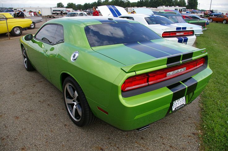 2011 Challenger SRT 392 - Green with Envy - photographed at the 2011 Mopar Nationals in Ohio.  https://flic.kr/p/axQJzt | IMGP0576 | 2011 Challenger SRT 392 - Green with Envy