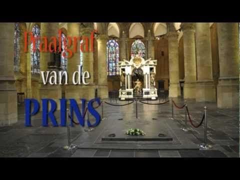 Impressie van het Praalgraf van Prins Willem van Oranje in de Nieuwe Kerk in Delft.