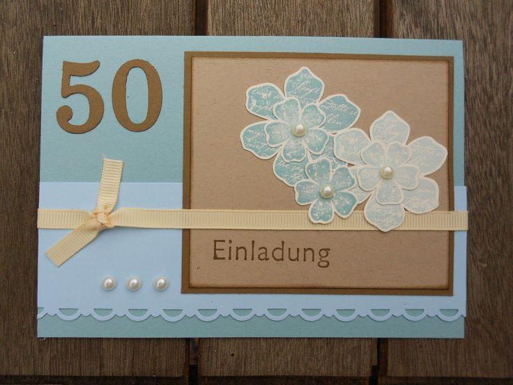 Einladungskarten 50. Geburtstag Frau