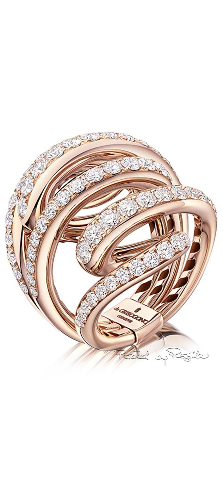De Grisogono ~ Diamond Wrap Ring set in Rose Gold