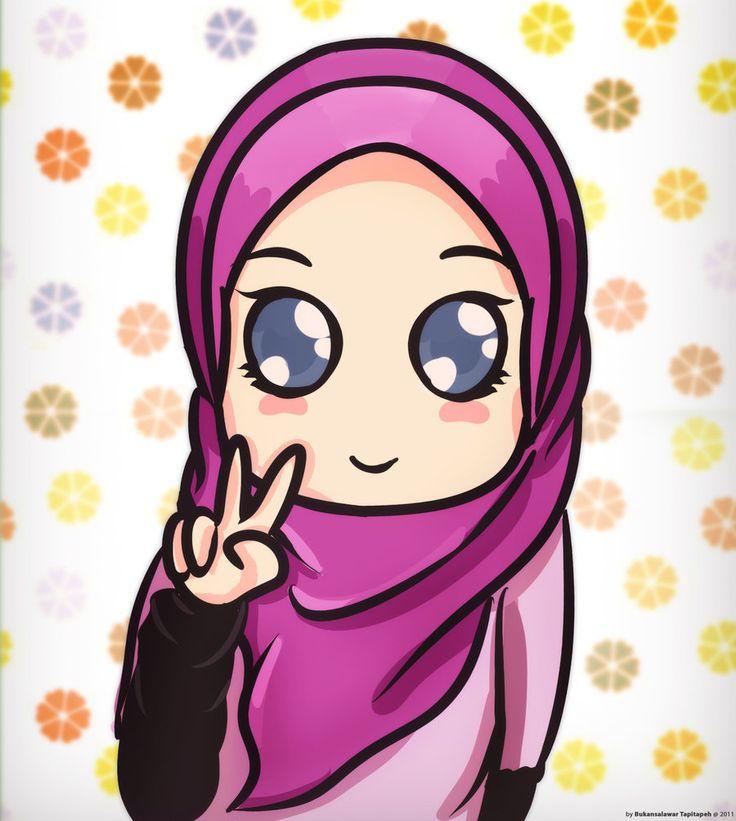 Chibi Hijabi Girl Victory Sign