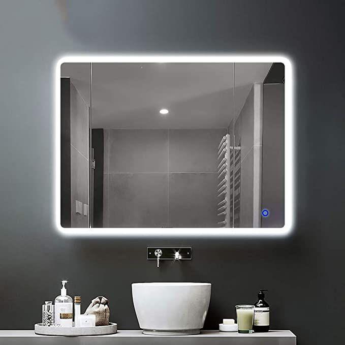 Chunse 1000x750mm Illuminated Led Bathroom Mirror Anti Fog Led Mirrors With Lights Touch Switch Control 60x80c In 2020 Led Mirror Led Mirror Bathroom Bathroom Mirror