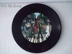 Tecendo e Criando Arte: Relógios de Parede de Discos de Vinil Personalizados
