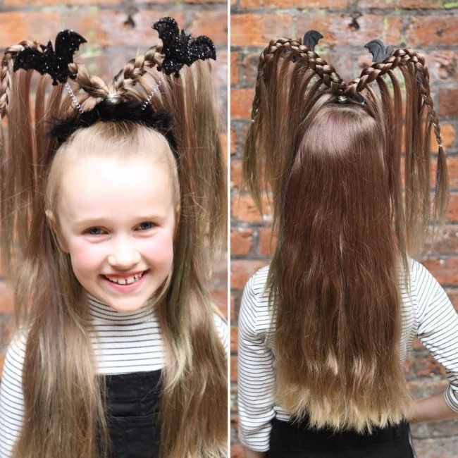 Halloween Hairstyle New Hairstyle Little Girls For Halloween Best Newest Hairstyle Trends Halloween Hair Witch Hair Little Girl Hairstyles