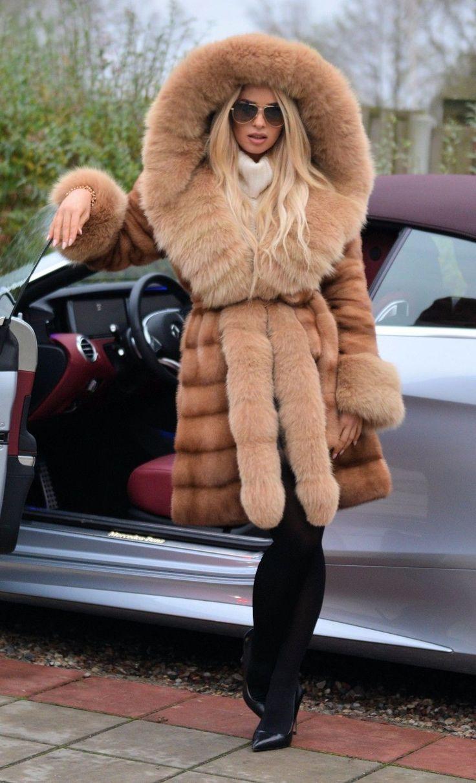 NEW PASTEL SAGA MINK FUR COAT FOX HOOD CLASS OF RUSSIAN SABLE CHINCHILLA JACKET   eBay