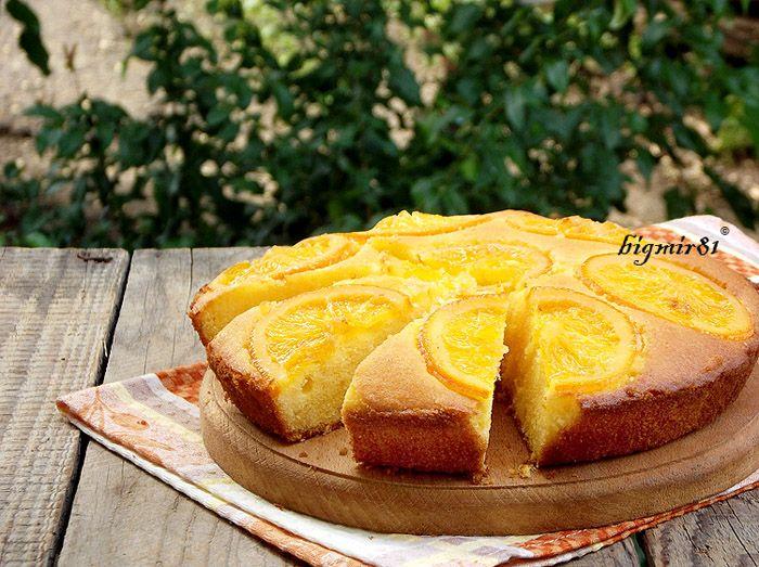 Апельсиново-кукурузный пирог - без глютена