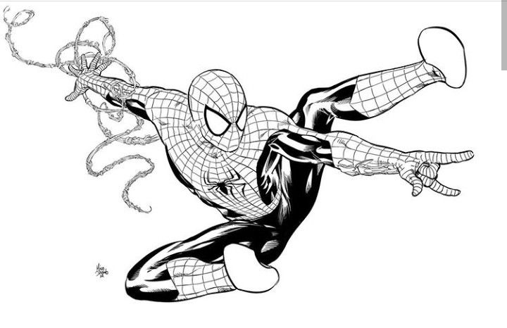 Pin By Dario Padilla On Comics In 2020 Spiderman Coloring Mike Deodato Black Spiderman