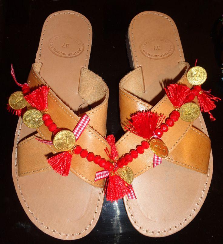 Handmade Genuine Leather Ladies Sandals by ScreationsGR on Etsy https://www.etsy.com/listing/240005130/handmade-genuine-leather-ladies-sandals