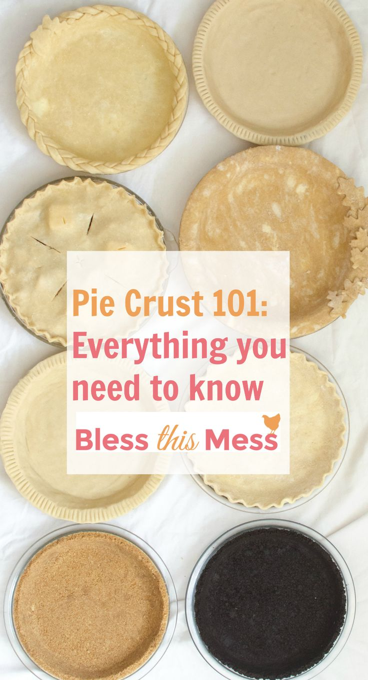 This is your ULTIMATE guide to making a perfect pie crust! It has 4 great recipes – traditional, whole wheat, graham cracker & chocolate cookie crusts. I'll be the first to admit that I used to be totally intimidated by pie crust. I felt like there were too many rules, too many recipes, and too many differing opinions