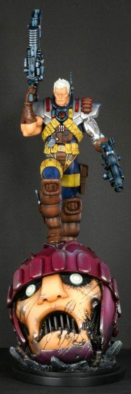 Cable Retro statue  Sculpted by: Kucharek Brothers    Release Date: January 2010  Edition Size: 250  Order Of Release: Phase IV (statue #187)