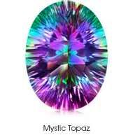 Mystic Topaz Mystic Topaz is also known as Fire Topaz, Mystic Fire Topaz, Caribbean Topaz, Alaska Topaz, Alaskan ice and Rainbow Topaz. These are all different terms used to describe the same gemst...
